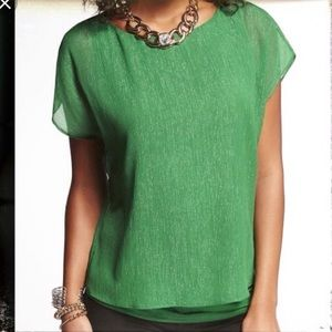 Express Green Sparkle Blouse